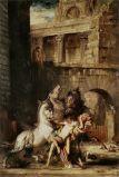 Diómedes devorado por sus caballos, Moreau