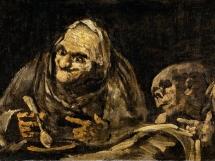 Dos viejos comiendo sopa, Goya