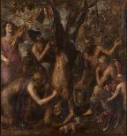 El desollamiento de Marsias, Tiziano