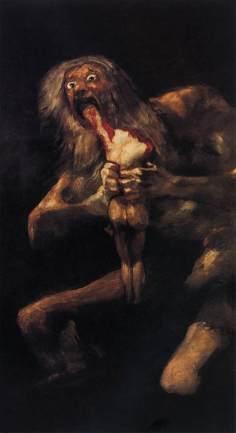 Saturno devorando a sus hijos, Goya