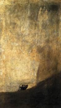 El perro semihundido, Goya