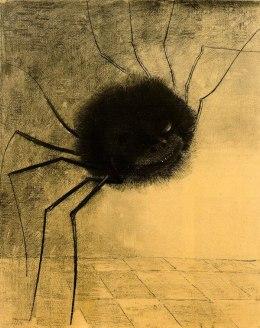 Araña sonriente, Odilon Redon