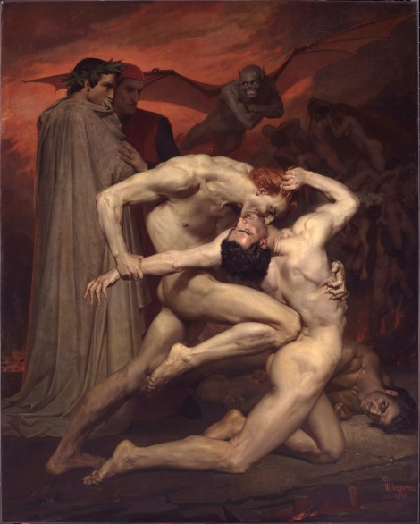 Dante y Virgilio en el Infierno, William Adolphe Bouguereau