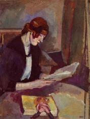 Hermine David leyendo - Pascin