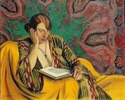 Mujer leyendo - Félix Edouard Vallotton