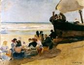 A la sombra de la barca - Sorolla