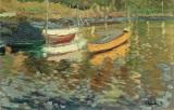 Barcas en paisaje - Sorolla