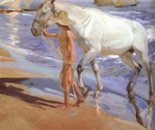 El baño del caballo - Sorolla