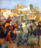 Extremadura, el mercado - Sorolla