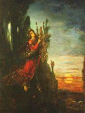 Safo en Léucade - Gustave Moreau