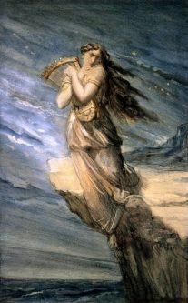 Safo Saltando al Mar desde Léucade - Théodore Chassériau