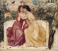 Sappho and Erinna in a Garden at Mytilene 1864 Simeon Solomon 1840-1905 Purchased 1980 http://www.tate.org.uk/art/work/T03063
