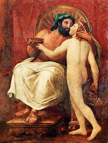 Zeus y Ganímedes,Anton Raphael Mengs
