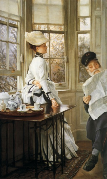 James_Tissot_-_Reading_the_News